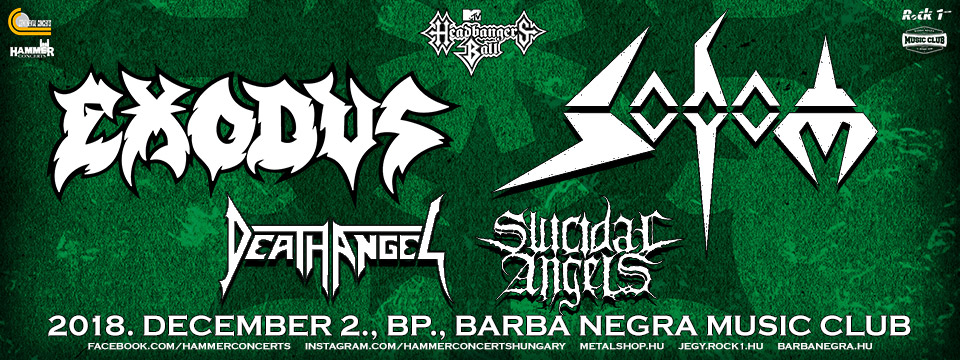 EXODUS | SODOM | Death Angel | Suicidal Angels